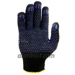 Перчатки с ПВХ точкой BК10-17T. (ПРОЧНЫЕ 17)