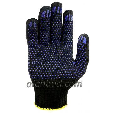 Трикотажні робочі рукавички з ПВХ крапкою BK10-17T
