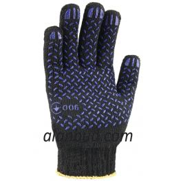 Work gloves with PVC point BK10-33