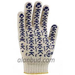 """Трикотажные перчатки с ПВХ точкой W10-19 """"Хозяйственные"""""""