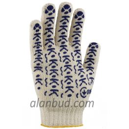 "Knitted gloves with PVC dot W10-19 ""Household"""