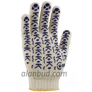 Перчатки с ПВХ точкой W10-19. (ЗАЩИТНЫЕ 19)