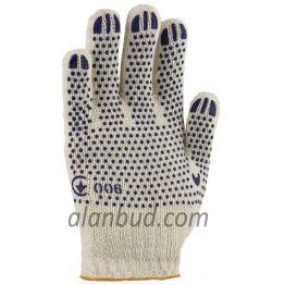 """Рабочие перчатки с ПВХ точкой W10-21 """"Хозяйственные"""""""