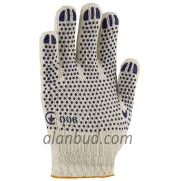 "Working gloves with PVC dot W10-21 ""Household"""