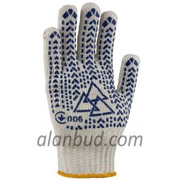 Extra strong gloves with PVC pattern W10-29