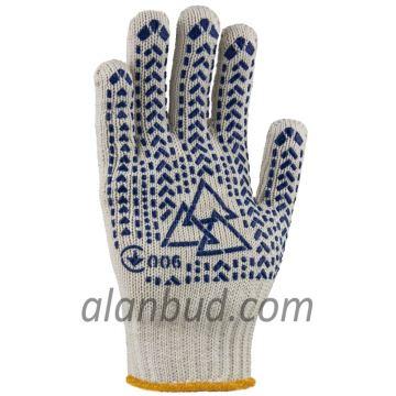 Надміцні рукавички з ПВХ малюнком W10-29
